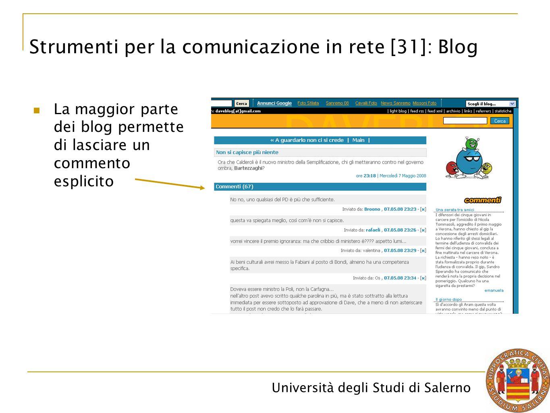Strumenti per la comunicazione in rete [31]: Blog